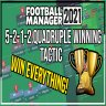 LSPlaysFM FM21 Quadruple Winning 5-2-1-2 Tactic